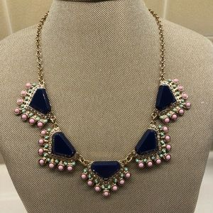Francesca blue and beaded necklace